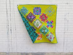 View an exclusive quilt by Giucy Giuce featuring Tula Pink All Stars! Star Quilt Blocks, Star Quilt Patterns, Modern Quilt Patterns, Modern Quilting, Tula Pink Fabric, 5 April, Quilting For Beginners, Quilting 101, How To Finish A Quilt