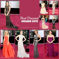 Best Dressed Oscars 2013 | Musings of a Housewife