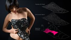 Dress Becomes Increasingly Transparent As Its Wearer Share Personal Data Online - DesignTAXI.com