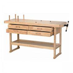 Work bench table for shop garage woodworking crafts adjustable desk top drawers heavy duty industrial organizer usado en venta en plano - letgo Workbench Organization, Workbench Plans Diy, Folding Workbench, Woodworking Bench Plans, Cool Woodworking Projects, Fine Woodworking, Diy Wood Projects, Workbench Top, Woodworking Garage