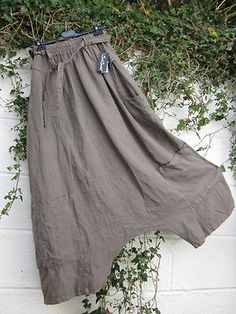 Sarah Santos Quirky Linen Parachute Baggy Trousers S BNWT Lagenlook Ethnic
