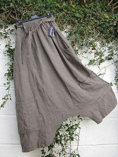Sarah Santos Quirky Linen Parachute Baggy Trousers S BNWT Lagenlook Ethnic