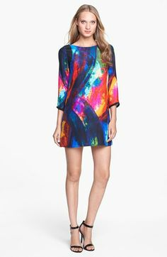 ALICE & TRIXIE 'Haven' Print Silk Shift Dress available at #Nordstrom