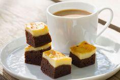 Layered Cheesecake Brownies