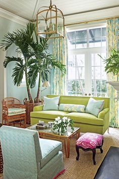 colorful living room by Ashley Whittaker