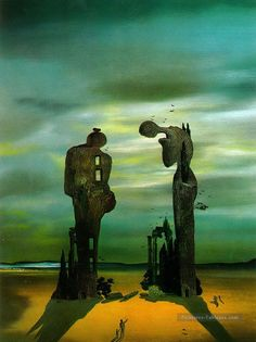 "artist-dali: ""Archeological Reminiscence Millet's Angelus via Salvador Dali "" Salvador Dali Gemälde, Salvador Dali Paintings, Surrealism Painting, Magritte, Art Moderne, Wassily Kandinsky, Surreal Art, Art History, Painting Art"