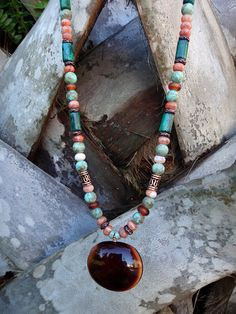Island Beauty Tropical Seabean Necklace by TheEclecticOcean, $48.00