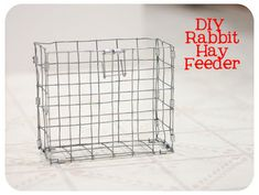 How To Make a Rabbit Hay Feeder | Bull Rock Barn and Home Show Rabbits, Meat Rabbits, Raising Rabbits, Bunny Cages, Rabbit Cages, Rabbit Toys, Bunny Toys, Bunny Rabbit, Rabbit Feeder