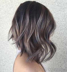 Ash Brown Balayage Bob