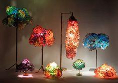 Lecy C. Picorelli - Bioarquitetura e Bioconstrução: O fascinante mundo dos abajures feitos de materiais reciclados de todos os tipos!