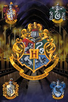Harry Potter Crests - Official Poster. Official Merchandise. Size: 61cm x 91.5cm. FREE SHIPPING More
