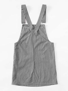 Gingham Overall Dress Simple Outfits, Trendy Outfits, Kids Outfits, Cute Outfits, Crop Top Outfits, Girls Fashion Clothes, Fashion Outfits, Kids Fashion, Mode Simple
