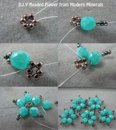 Beaded flowers - #diy, Jewelry