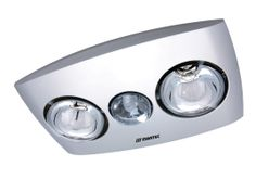 Silver Martec Contour 2 Bathroom 3 In 1 Exhaust Fan With Light Lighting