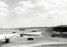 """Chelveston Air Field:  home to the 305th Bomb Group of the """"Mighty Eighth"""""""