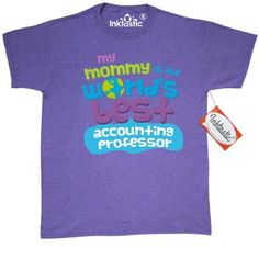 Inktastic My Mommy Is The Worlds Best Accounting Professor T-Shirt Child's Kids Baby Gift Professor's Daughter Childs Like Cute Occupation Apparel Mens Adult Clothing Tees T-shirts Hws, Size: XL, Grey