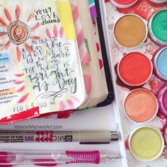 Great site for bible journaling. This post includes her favorite supplies.