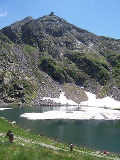 Sparkling Lac Mucrone near Sanctuary of Oropa near Biella