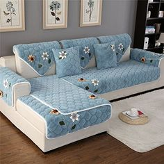 Discounted OstepDecor Multi-size Winter Soft Quilted Sectional Armrest & Backrest Covers for Sofa, Loveseat Living Furniture, Home Decor Furniture, Sofa Furniture, Furniture Design, Living Room Sofa Design, Home Room Design, Living Room Designs, Living Rooms, Diy Sofa Cover