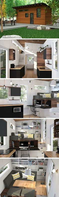 mytinyhousedirectory: Check out this beauty!Love the white with the wood...