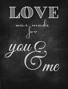 Valentine Chalkboard Printable