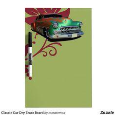 Classic Car Dry Erase Board #DryEraseBoard #Whiteboard #Home #Car #Auto #Classic #LowRider
