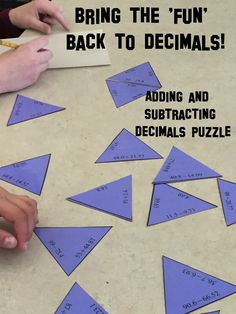 This 30 problem adding and subtracting decimals puzzle is ideal for engaging math center work. Watch your students faces light up when you say it's time for math!