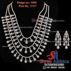 A full CZ Diamonds 3 layered necklace set exclusively handcrafted is available at Shree Ambica - Your Trusted Jewellers Readily available in stock Call/WhatsApp - 91986611050 #ShreeAmbica #silver #silverjewellery #trustedjewellery #jewellerylover #brides #925silver #czjewellery #exclusivejewellery #elegantjewellery #trendingjewellery #classyjewellery #royaljewellery #bridaljewellery #wedding #weddingjewellery #hyderabadshopping #southindianbride #southindianjewellery #specialasyou 925 Silver, Silver Jewelry, Layered Necklace Set, South Indian Bride, Jewellery Designs, Wedding Jewelry, Brides, Diamonds, Jewels