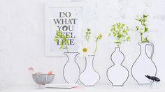 Niezwykle efektowna i prosta do zrobienia dekoracja, którą może wykonać każdy: za kartonowymi atrapami schowały się prawdziwe szklane wazony!