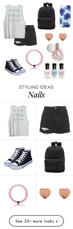 """""""Outfit"""" by hellofashion22 on Polyvore featuring Topshop, RVCA, Vans, Jigsaw, Ted Baker and Deborah Lippmann"""