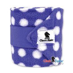 Purple & White Polka Dot Classic Equine Polo Wraps | SouthTexasTack.com
