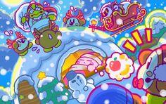 Los desarrolladores de Kirby nos felicitan las fiestas con esta adorable imagen