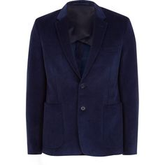 Acne Studios Blue Stan Single-Breasted Corduroy Blazer ($635) ❤ liked on Polyvore featuring mens, men's clothing and sportcoats
