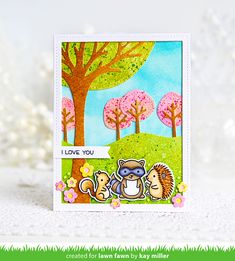 I have a fun springy card to share with you today using some Lawn Fawn products! I used quite a mix of dies and stamps to. Card Making Inspiration, Making Ideas, Lawn Fawn Blog, Handmade Card Making, Handmade Cards, Lawn Fawn Stamps, Paper Smooches, Kids Birthday Cards, Thanksgiving Cards