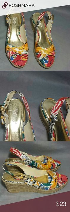 """FRANCO SARTO Sandals 8 M Heels 3"""" Ankle Straps Item is in a good condition, NO PETS AND SMOKE FREE HOME. Franco Sarto Shoes Sandals"""