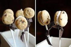 Cream cookies stick