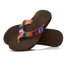 Multi-coloured flip-flops!