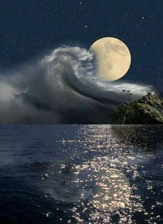 Beautiful Full Moon ~ Fotografia 3851 de p mother nature moments Moon Moon, Big Moon, All Nature, Amazing Nature, Stars Night, Night Clouds, Shoot The Moon, Moon Photos, Full Moon Pictures