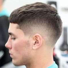 Low Taper Fade with Crew Cut and Short Fringe - Best Fade Haircuts For Men: Cool Men's Taper Fade Hairstyles - High, Low, Mid Fades Best Fade Haircuts, Fade Haircut Styles, Low Fade Haircut, Crop Haircut, Trendy Mens Haircuts, Tapered Haircut, Cool Hairstyles For Men, Popular Haircuts, Hair And Beard Styles