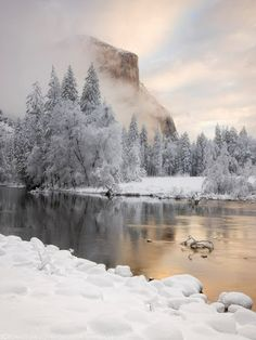 Beautiful winter lake