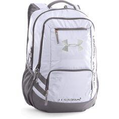 Under Armour White Black UA Hustle II Backpack 5c104f5eb31b9