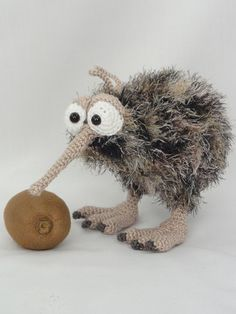 Kirk and Wilma the kiwis amigurumi crochet pattern by IlDikko