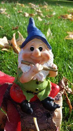 Tuin Gnome, Dwerg, Herfst, Bladeren, Gnome, Fluit
