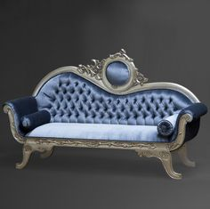 "In Stock...No Waiting.....Limited Quanity ""Oleta"" Wedding Settee Baroque French Reproduction Mahogany Louis XVI Style Settee. Can be made in different fabric and wood colors Please allow Approximately                                                                                                                                                                                 More"