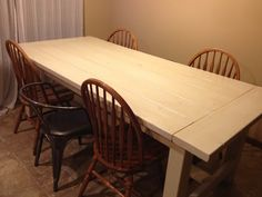 farmhouse table with leaf extensions