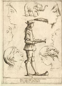 E. Alfabeto in Sogno (Alphabet in a Dream) [no JUW], Giuseppe Maria Mitelli, 1683