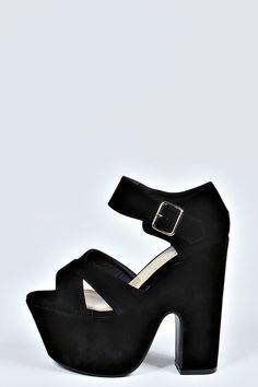 Zapatos De Tacón Grueso, Punta Abierta Y Tira Cruzada Jenny - Zapatos de tacón - Calzado