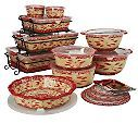 Temp-tations bakeware QVC I have so many pieces and I swear by them love temp-tations. I collect black and cranberry!