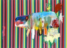 "Saatchi Online Artist: Woo, Kukwon; Oil, Painting ""Turtle"""