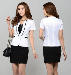 Women Business Suit Formal Office Ladies Clothes Uniform Suits for Women Sets Elegant Female Work Wear 2016 Fashion Jacket Skirt